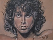 Singer  Paintings - Jim Morrison by Shirl Theis