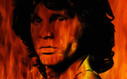Lead Singer Painting Prints - Jim Morrison Print by Stefan Kuhn