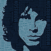 Jim Morrison Prints - Jim Morrison The Doors Print by Tony Rubino
