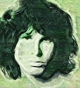 Jim Morrison Prints - Jim Morrison Print by Tim Knowles