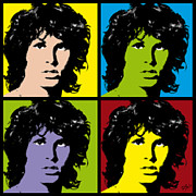 Jim Morrison Posters - Jim Pop Art Poster by Bitta