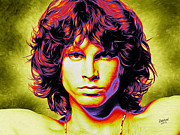 Jim Morrison Prints - Jim Print by Rebelwolf