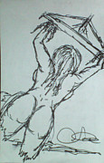 Naked Drawings Originals - jiM by Thomas Thurston