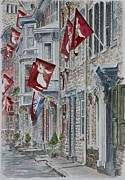 Brick Building Painting Framed Prints - Jim Thorpe Framed Print by Anthony Butera