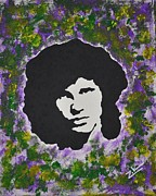 Jim Morrison Prints - Jim Print by Zikraun Art
