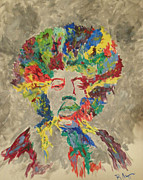 Jimi Hendrix Painting Originals - Jimi 011112 by Robert Nipper