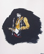 Performance Paintings - Jimi At Monterey 2 by Martin Howard