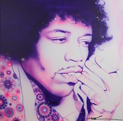 Power Painting Acrylic Prints - Jimi Acrylic Print by Christian Chapman