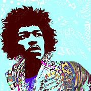Rock N Roll Digital Art - Jimi by Cynthia Edwards