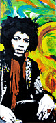 Oil Pastels Paintings - Jimi by dreXeL