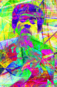 Musicians Digital Art Prints - Jimi Hendrix 20130613 Print by Wingsdomain Art and Photography