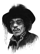 Musicians Mixed Media - Jimi Hendrix by Balazs Solti