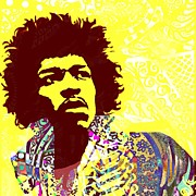Rock N Roll Digital Art - Jimi Hendrix by Cynthia Edwards