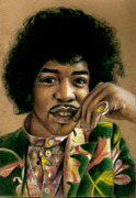 Legend  Pastels - Jimi Hendrix by Danielle Fisher