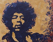 Sixties Painting Originals - Jimi Hendrix by David Shannon