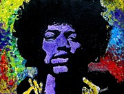 Superstar Framed Prints - Jimi Hendrix Framed Print by Jeremy Moore