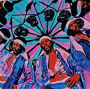 Jimi Hendrix Painting Originals - Jimi Hendrix - Kaleidoscope by Shirl Theis