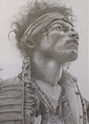 Jimi Hendrix Drawings - Jimi hendrix by Karl Simpson
