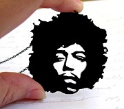 Perspex Necklace Art - Jimi Hendrix Necklace by Rony Bank