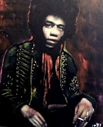Jimi Hendrix Painting Originals - Jimi Hendrix by Peter Hereel