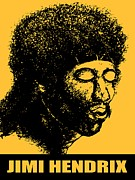 African-american Drawings - Jimi Hendrix Poster - Guitar Master of Rock Music - Pop Art by Peter Art Print Gallery  - Paintings Photos Posters