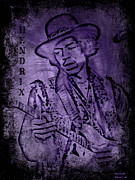 Classic Singer Digital Art - Jimi Hendrix Purple Haze by Jessica Grandall