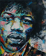Jimi Hendrix Drawings - Jimi Hendrix by Richard Day