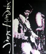 Rock And Roll Art Painting Originals - Jimi Hendrix by Ronald Young