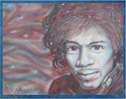 Guitar God Painting Originals - Jimi Hendrix by Vince Plzak
