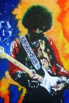 Jimi Hendrix Prints - Jimi Hendrix Voodoo Child Print by Ronald Young
