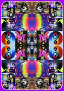 Sixties Framed Prints Posters - Jimi Kaleidoscope I Poster by Christian Chapman Art