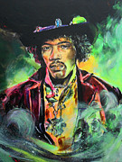 Jimi Painting Originals - Jimi by Lucia Hoogervorst