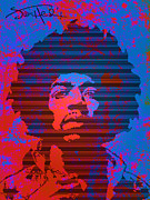 Pop Singer Framed Prints - JIMI No.1 Framed Print by Bobbi Freelance