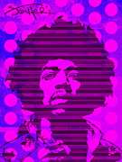 Pop Singer Framed Prints - JIMI No.2 Framed Print by Bobbi Freelance