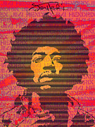 Jimi Hendrix Digital Art Prints - JIMI No.3 Print by Bobbi Freelance