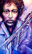 Jimi Hendrix Digital Art Originals - Jimi Original by Lloyd DeBerry