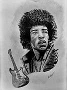 27 Club Drawings - Jimmi by Keith Anderson