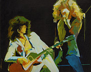 Robert Plant Paintings - Jimmi Page Robert Plant.Going to California by Tanya Filichkin