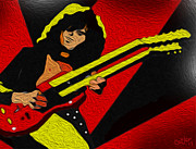 Jimmy Page Digital Art - Jimmuy Page by Glenn Cotler
