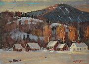 Berkshires Of New England Prints - Jimmy Alibozeks Place Print by Len Stomski