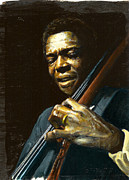 Quartet Posters - Jimmy Garrison Poster by Rudy Browne
