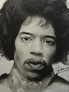 Signed Drawings Framed Prints - Jimmy Hendrix Framed Print by Lance  Freeman