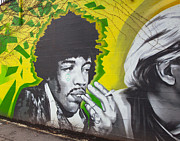 Mural Photos - Jimmy Hendrix Mural by Chris Dutton