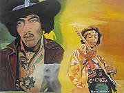 Jimmy Hendrix Paintings - Jimmy Hendrix by Patrick Hunt