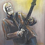 Playing Painting Originals - Jimmy Herring by Whitney Tomlin