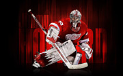 Howard Framed Prints - Jimmy Howard Poster Framed Print by Sanely Great