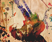Rock N Roll Painting Prints - Jimmy Page - Led Zeppelin Print by Ryan Rabbass
