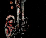 Led Zeppelin Prints - Jimmy Page Print by Jeremy Moore