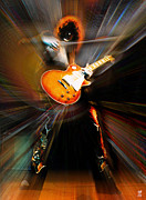 Led Zeppelin Art - Jimmy Page by Neil Finnemore