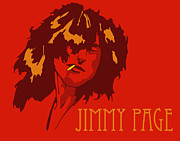 Led Zeppelin Art - Jimmy Page by Patrick Collins